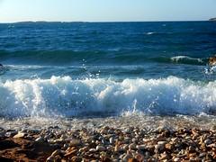 """listen to the waves..."" (fl_mala) Tags: waves parosisland greece traveltogreece discovergreece island lifeisbetterontheisland ilovegreece wildsea beautifulsea wonderfulsea deepblue cyclades greekislands"