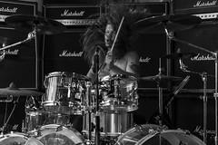 Jani Pasanen : bateria - Asomvel (samarrakaton) Tags: samarrakaton 2019 nikon d750 2470 bilbao bilbo nave9 rock musica music directo live byn bw blancoynegro blackandwhite monocromo janipasanen drums bateria asomvel