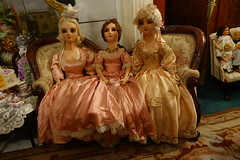 Gossip Girls...Eighteenth Century Style! (Primrose Princess) Tags: paris france versailles dolls marieantoinette queenoffrance dollydreamland boudoirdoll antique sevres teaparty princess queen royalty