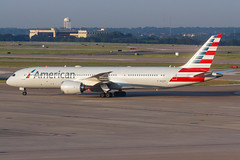 American Airlines B787-9 DREAMLINER N823AN 002 (A.S. Kevin N.V.M.M. Chung) Tags: aviation aircraft aeroplane airport airlines taxiway plane spotting aa american airside dfw dallas boeing b787 b7879 dreamliner beacon