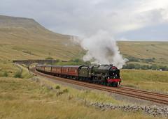 The Dalesman (Treflyn) Tags: lms stanier royal scot class 460 46115 scots guardsman work gradient ais gill settle carlisle line return dalesman railtour tour excursion york
