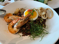 lunch at Chandi (Balinese restaurant) (_gem_) Tags: bali indonesia travel vacation holiday asia southeastasia seminyak chandi restaurant balineserestaurant food balinesefood lunch shrimp seafood rice egg