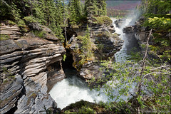 athabasca falls (heavenuphere) Tags: athabascafalls athabasca falls jasper national park alberta ab canada icefieldsparkway icefields parkway highway93 scenic road canadianrockies canadianrockymountains rockymountains canadian rockies rocky mountains mountain landscape nature waterfall unesco world heritage site 1635mm