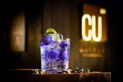 Blue Dragon Balls (Jordan Lye) Tags: cocktails blue alcohol beverage gintonic copperbar dragonfruit armenianstreet