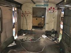 Belfast, 23/04/2019 (Milepost98) Tags: ni northern ireland irish railway railways train translink ykrd york road depot yard reclaim part dcdr shed 80 class thumper 4srkt brel demu railcar 8097 97 power car parts interior belfast