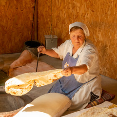 Lavash bread maker, Armenia (ejwwest) Tags: mountains georgia tbilisi armenia yerevan caucasus garni kotaykregion