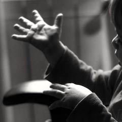 """Look!"" (@petra) Tags: hands child family light blackandwhite gui littleboy"