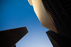 Mutual Attraction (Thomas Hawk) Tags: america california embarcadero embarcaderocenter financialdistrict johnportman sanfrancisco usa unitedstates unitedstatesofamerica architecture fav10 fav25 fav50 fav100