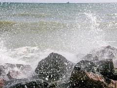 Black Sea (olaf_alien) Tags: ukraine odesa chernomorsk olympus sp560uz black sea olafalien drop water stones waves autumn seascape landscape nature