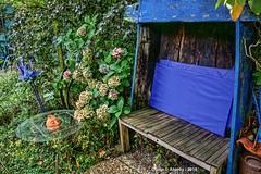 Garden,Drenthe,the Netherlands,Europe. (Aheroy) Tags: garden tuin zunneschien drenthe zitje bankje garten jardin 花园 huāyuán 庭 niwa veenhuizen