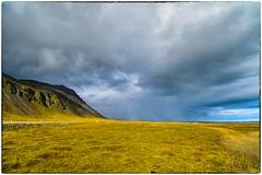 Iceland, a distant storm (RKop) Tags: landscape iceland d500 raphaelkopanphotography 1020nikkoraf‑pdx stokksnespenisula