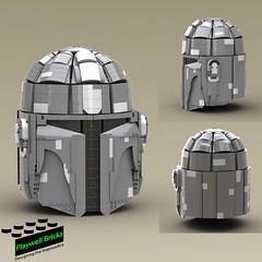 Mandalorian Helmet (Playwell Bricks) Tags: lego legotechniques legoideas legophotography legopictures legoart toys toyphotography themandalorian starwars disney