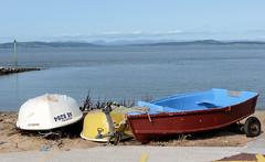 Morecambe boats (Country Girl 76) Tags: boats morecambe bay sea sand lancashire coastline hills clouds