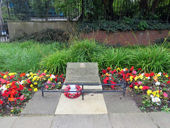 Merrion Street Rest Garden, Leeds 2019 (Dave_Johnson) Tags: merrionstreetrestgarden merrionstreet restgarden merrion rest garden gardens normandyveteransassociation warmemorial war memorial normandylandings plaque ww2 wwii dday tribute flowers poppy poppies britishlegion leeds yorkshire westyorks westyorkshire