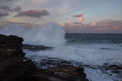 breaking wave  #0674 (lynnb's snaps) Tags: colour digital waves canon6d 201909 ef40mmf28stm ocean sunset nature clouds danger landscape coast rocks horizon sydney dramatic australia spray