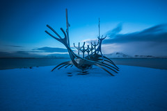 The sun voyager (urban requiem) Tags: islande iceland sun voyager sunvoyager solfarid winter hiver snow ice cold long exposure longexposure poselongue pose longue art sculpture