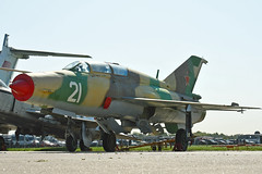 "MiG-21UM Mongol-B ""21 White"" (Nils Mosberg) Tags: maks2019 zhukovsky mig21 mig21ummongolb"