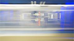 in transit (leuntje) Tags: münchen munich bavaria bayern deutschland germany münchnerfreiheit ubahnhof metro station underground ingomaurer subway subwaystation