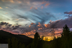 Wyoming Sunset (Wycpl) Tags: sunset wyoming redsky jcpphotography clouds trees