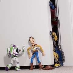 Don't let them in!!! (Jezbags) Tags: toy toys toystory toyphotography toystory4 transformer transformers hottoys sideshow canon80d canon 80d 100mm macro macrophotography macrodreams disney pixar