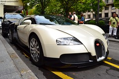 Bugatti Veyron (Monde-Auto Passion Photos) Tags: voiture vehicule auto automobile cars bugatti veyron coupé bicolore hypercar rare rareté georgev france paris