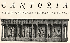 SNS1934-CantoriaFriezeTitlePage-Cantoria (Archives @ Lakeside School) Tags: cantoria stnicholasschool seattle schoolannuals yearbooks 1934