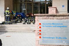 Stickstoffaustritt Sozialministerium Wiesbaden 11.09.19 (Wiesbaden112.de) Tags: betreuung elrd feuerwehr kureck lna nef olrd rtw seg sozialministerium stickstoff wiesbaden