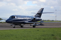 "Cobham Falcon 20  G-FRAJ departure from ""Teesside Airport"" MME England UK (thelastvintage) Tags: cobham falcon 20 gfraj departure from teessideairport mme england uk"