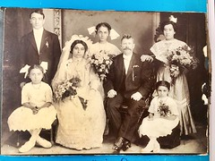 Weddings of yesterday.. (reaexpress) Tags: siblings drinks party antique celebration professionals newyork beautiful family nyc brooklyn sisters brothers wedding photo fun happy love