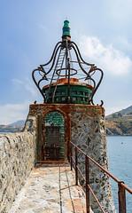 collioure lighthouse (clairescosmos) Tags: france collioure harbour beach nikon d5600 chateaux church tower plage seaside sea coast pyrenees swim sun holiday southfrance catalan pier lighthouse catalonia