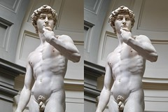 David  (stereoview) (Piedmont Fossil) Tags: italy florence art statue sculpture david michelangelo galleriadellaccademia stereo view
