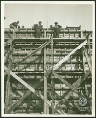 Fort Henry Bridge Construction (Ohio County Public Library) Tags: wheelingwv wheeling forthenrybridge fthenrybridge construction bridgeconstruction ohioriver constructionworkers concreteforms