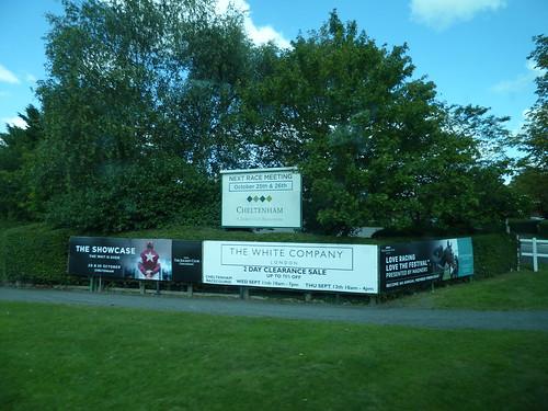 Cheltenham Racecourse - signs