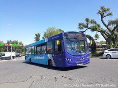 TUI 7935 (MX13AKJ) 3804 Arriva Sapphire Midlands East in Nuneaton (Nuneaton777 Bus Photos) Tags: arriva sapphire midlands wright pulsar tui7935 mx13akj 3804 nuneaton