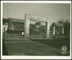 Fort Henry Bridge Construction (Ohio County Public Library) Tags: wheelingwv wheeling forthenrybridge fthenrybridge construction bridgeconstruction ohioriver capitoltheater capitoltheatre mullcenter hawleybuilding