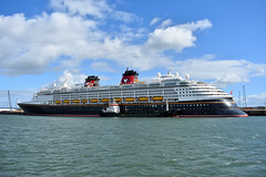 Disney Magic at Belfast Cruise Terminal, September 2019 (Photos by Nathan Lawrence) Tags: disney magic cruise ship line vessel boat sail belfast terminal harbour docks tanker keewhit colour liner ocean sea coast