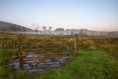 """ UP & OVER "" (Wiffsmiff23) Tags: breconbeaconsnationalpark penderyn gate mist fog southwales dramatic drama reflections reflection sunrise"