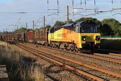 Colas Rail 70806 6J37 Carlisle to Chirk Logs. (Powerhaul70Pey) Tags: colasrail 70 70806 6j37 carlisle chirk logs freight train locomotive railway rail railroad
