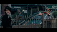 Brooklyn Bridge, NYC (emrecift) Tags: candid street woman portrait photography cityscape blue hour tint moody bridge new york nyc cinematic lightroom presets 2391 anamorphic fuji xt1 90mm f2 emrecift