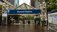 The Burrard Station Entryway With A Jada Map to Starboard (AvgeekJoe) Tags: 1835mmf18dchsm britishcolumbia burrardstation canada d7500 dslr importedkeywordtags nikon nikond7500 sigma1835mmf18 sigma1835mmf18dchsmart sigma1835mmf18dchsmartfornikon sigmaartlens translink vancouver rain trainstation
