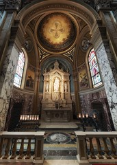 Joseph's Fatherhood (Rev.Gregory) Tags: saint joseph father worker shrine basilica church catholic victory rail dome cross jesus child candles votive altar