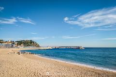 Las playas en invierno (SantiMB.Photos) Tags: 2blog 2tumblr 2ig laselva invierno winter playa beach costabrava motog3 móvil phone nubes clouds geo:lat=4167362492 geo:lon=279313558 geotagged blanes cataluna españa