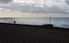 Beach Cleaner (Mandy Willard) Tags: 365 0509 bexhill beach sea clouds