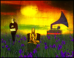 Inspiration (bdira3) Tags: flower field girl muse poet gramophone sun atmospheric