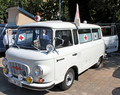 Barkas ambulance (Schwanzus_Longus) Tags: cloppenburg german germany old classic vintage vehicle window van emergency ambulance east ddr gdr barkas b1000