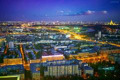 _MG_1059 (Mikhail Lukyanov) Tags: россия москва город дома иллюминация огни вечер ночь закат небо облака видсверху