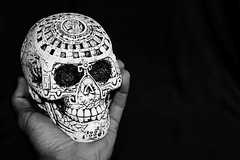 (Lettich) Tags: skull maya mayan culture mexico black white bw nikon d5300 35mm
