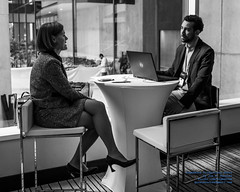 TransLink's Sarah Ross Conversing With A Male Ally (AvgeekJoe) Tags: 1835mmf18dchsm bw blackwhite blackandwhite d7500 dslr nikon nikond7500 sarahross sigma1835mmf18 sigma1835mmf18dchsmart sigma1835mmf18dchsmartfornikon sigmaartlens translink