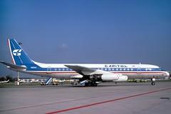 N905CL_1978-10_MUC_1200_HS (stefanmuc2001) Tags: n905cl capitolairways dc8 dc831 douglasdc8 airliner jetliner aircraft plane flugzeug muc eddm münchen munich riem flughafenriem münchenriem munichriem 1978 kodachrome k25 slidescan aircraftslide