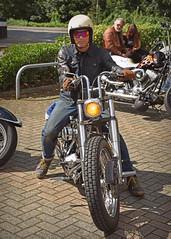 A view of Life through Rose Tinted Spectacles... (Harleynik Rides Again.) Tags: biker chopper shovelhead harleydavidson motorcycle bike rider harleynikridesagain